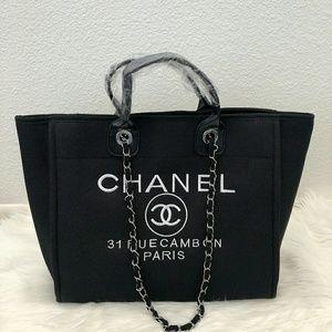 Chanel tote Black Canvas bag